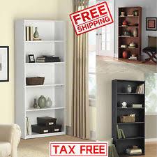 Bookcase 5 Shelf Wood Bookcase Ebay