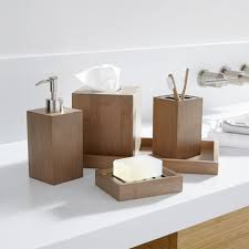 bathrooms accessories ideas dixon bamboo bath accessories crate and barrel