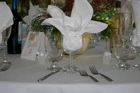 water glasses on table setting water goblets taylor rental of torrington