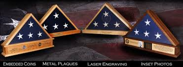 Military Flag Frame Plaques And Laser Engraving For Shadow Boxes U0026 Flag Display Cases