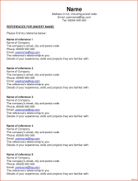 exles of one page resumes how to write a reference page for a resume oloschurchtp