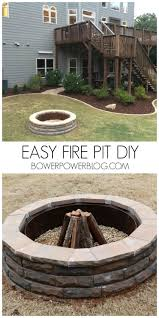 How To Build A Stone Firepit by It U0027s The Pits Bower Power