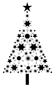 christmas tree abstract snowflake christmas tree by arnold svg