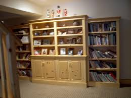stephan woodworking built in pine bookcases
