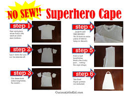 no sew superhero cape cut up old t shirt have child decorate