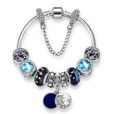 bracelet pandora murano images New arrivals bijoux moon murano glass bead bracelet bangles for jpg