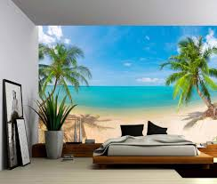 wall murals archives picture sensations seascape palm beach self adhesive vinyl wallpaper peel stick fabric wall decal