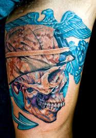 marine skull by tat2istcecil on deviantart