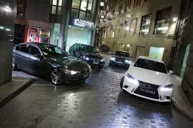 audi a4 comparison 2013 bmw 320i vs audi a4 vs mercedes c200 vs lexus is 250