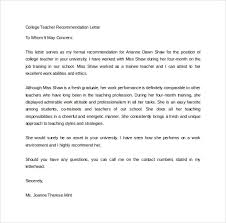 College Letter Of Recommendation From A Family Friend sle college recommendation letter 14 free documents in word pdf