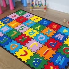 Kid Area Rug Baby Room Daycare Classroom Playroom Area Rug Abc