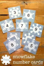 free snowflake printable for math and language activities math
