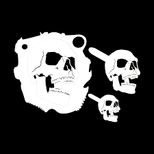 kustom skull stencil 4 includes lrg med and small