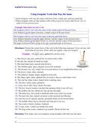 irregular verbs worksheet 5th grade free worksheets library