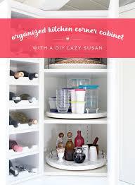 organize lazy susan base cabinet iheart organizing organized kitchen corner cabinet with a diy lazy