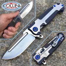 Aesthetic Knives Andre De Villiers Adv Mini Pathfinder Knife 3d Blue Ti Knife