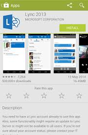 microsoft lync 2013 for android hosted lync android client install iihelp