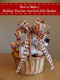 How To Make Gift Baskets How To Make A Holiday Teacher Survival Gift Basket With Gourmet