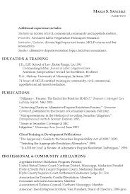 Civil Resume Sample by Lawyer Resume Litigation Mediation Teaching Susan Ireland Resumes