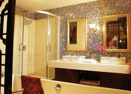pleasant gold mosaic bathroom tiles with interior home paint color