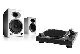 philips 5 1 home theater music hall usb 1 turntable w pair of audioengine a5 bookshelf