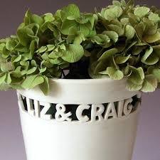 personalized flower pot personalized flower pots senalka
