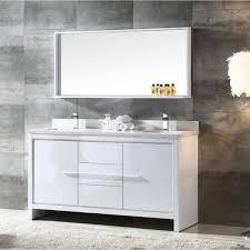 60 Inch Bathroom Vanit Fresca Allier 60 Inch White Modern Double Sink Bathroom Vanity