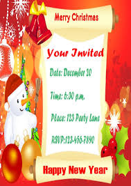 holiday lunch invitation christmas in july invitations templates