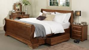 Oak Sleigh Bed Wooden Sleigh Beds Traditional Oak King Size Sleigh Bed Frames