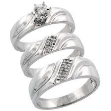 wedding ring trio sets wedding engagement sets