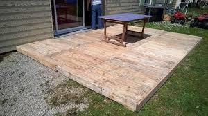 outdoor pallet flooring or deck