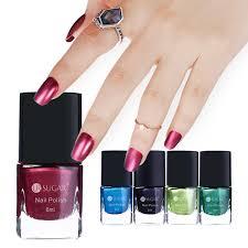 ur sugar 6ml mirror effect nail polish metallic lacquer red blue
