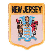 New Jersey State Flag Colors New Jersey State Flag Shield Patch 50 State Flag Patches