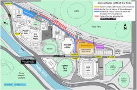 Royal Botanical Gardens Melbourne Map Parking At Melbourne Olympic Parks