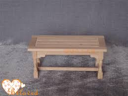 unfinished diy dollhouse furniture miniature dining table wooden