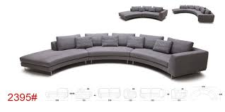 tulip modern rounded fabric sectional sofa