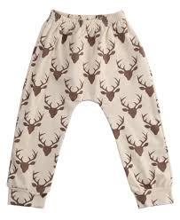 baby deer print pants