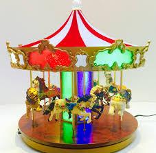 mr shimmering musical light up merry go carousel