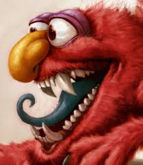 elmo painting elmo is a right by heckthor on deviantart