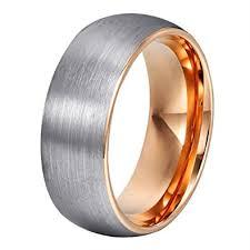 tungsten wedding ring will domed matte tungsten wedding bands gold interior