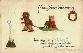 new years post cards 30 strange and creepy vintage new year s postcards from between