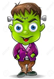 cute halloween cartoons cute halloween frankenstein character graphic stock photo picture