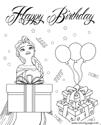 print elsa wishes you happy birthday colouring page coloring pages