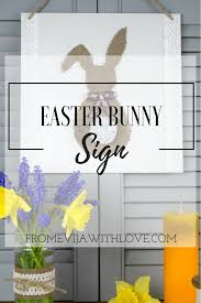 Easter Decorations Made Out Of Pallets by Diy Easter Bunny Hanging Sign Easy Easter Decor From Evija