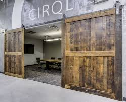 Double Barn Doors by Reclaimed Wood Barn Doors Baltimore Md Sandtown Millworks
