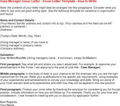 Case Manager Sample Resume by Case Manager Cover Letter Template Mytemplateco Sample Cover