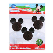 mickey mouse decorations mickey mouse honeycomb decorations 3 count hollar so much
