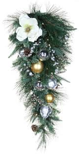 Christmas Garland With Lights by Decorative Garland Aspen Silver Battery Operated Led Teardrop