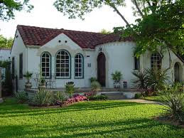 design white style house with black trim and red door white