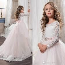 flower girl dress charming flower girl dresses for wedding lace tulle sleeve